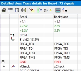 Traceview with pull-down and pull-up resistors